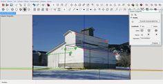 Selecciona la fachada de referencia e insértala en SketchUp, anotando los puntos de fuga