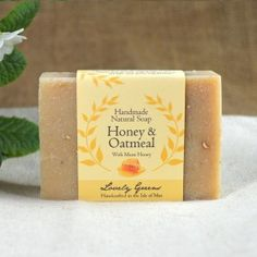Handmade and Natural Honey and Oatmeal Soap