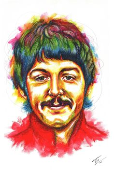 Paul McCartney Penny Lane Pop art Serie #Paul McCartney #Beatles #PennyLane