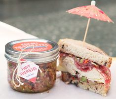 Homemade Muffuletta Spread with personalized Rustic Retro tags and labels from Evermine {www.evermine.com}