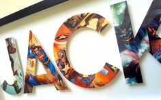 This is awesome and would be perfect for a Superhero themed nursery