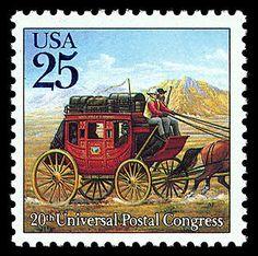 25c Stagecoach single. 1989