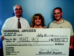 Jaycees makes another donation to MACC Hannibal Higher Education Center
