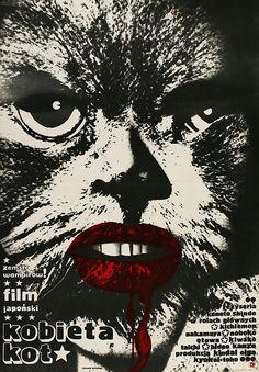 Black Cat (1968) - Polish poster by Ryszard Kiwerski