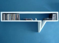 simple comic book shelves with white color