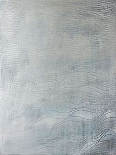 """chris trueman - white silver """"GSW"""" Acrylic and Acrylic spray paint on canvas #abstract #monochrome #painting 40h x 30w"""