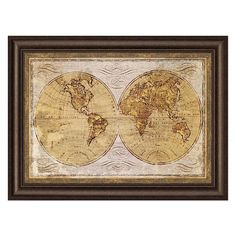 Old World Map Framed Wall Art ($179) ❤ liked on Polyvore featuring home, home decor, wall art, home decorators collection, lips wall art, map wall art, map home decor and old world wall art