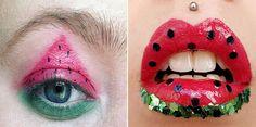 Тренды этого лета: арбузный макияж. Мир захватил арбузный макияж – если не на улице, то в инстаграме это самый популярный способ отметить (хотя бы календарно) наступление этого лета. Как он выполняется? #makeup, #watermelon, #watermelonmakeup, #summer, #summermakeup, #beauty, #beautyblog, #макияж, #арбуз, #бьюти, #бьютиблог http://be-ba-bu.ru/interesno/news/trendy-etogo-leta-arbuznyj-makiyazh.html