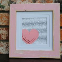 SALE: Personalized Bridesmaids Gift/ Gift for Wedding Party/Custom Bridesmaid Gift/ 3D Hearts in Distressed Wood Frame  -DIY