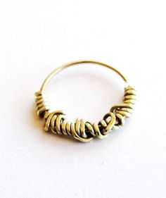 Septum Ring - gold septum ring nose ring - nose hoop - rook - helix - tragus - cartilage - nipple - belly button - naval - gold nose jewelry