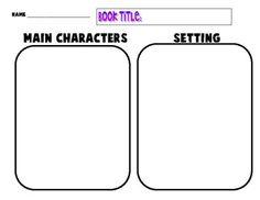 Character Setting Plot Worksheet – webmart.me