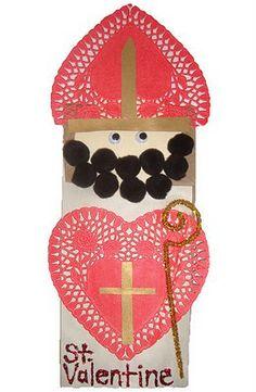 Valentine's Day With Catholic Kids (Catholic Icing) My Funny Valentine, Saint Valentine, Valentine Day Crafts, Holiday Crafts, Valentine Party, Valentine History, Valentine Recipes, Printable Valentine, Homemade Valentines
