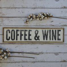 Wood Coffee and Wine Sign, Coffee Bar Decor, Gift for Coffee Lovers, Gift for Wine Lovers - New Sites Gifts For Wine Lovers, Coffee Lover Gifts, Coffee Lovers, Lovers Gift, Coffee Wine, Coffee Cozy, Coffee Shop, Coffee Maker, Coffee Drinks