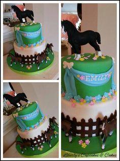 Horse Birthday Cake https://www.facebook.com/LibertysCupcakesAndCakes