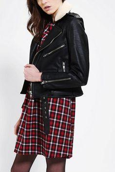 UNIF Vegan Leather Moto Jacket #urbanoutfitters