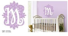 Mod Monogram Wall Decal for Girl's Room | AmericanBlinds.com