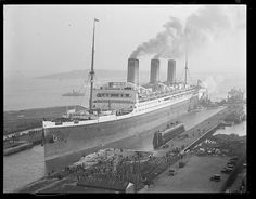 RMS Majestic in South Boston drydock by Boston Public Library, via Flickr