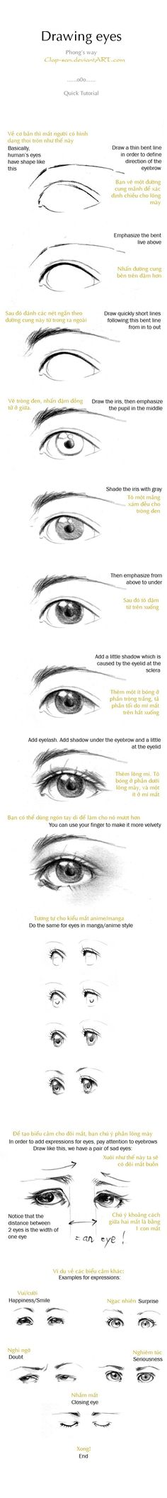 How to draw eyes <- never too many of these