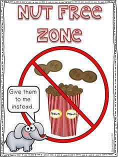 A special kind of class: Nut Free Zone Freebie