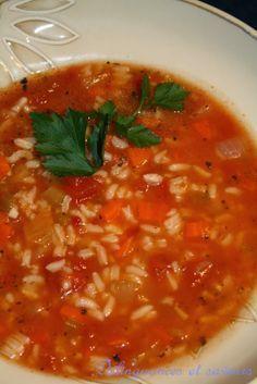 Délinquances et saveurs: Soupe riz et tomate