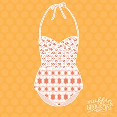 Blog | Muffin Grayson, MIID Summer School Retro Swimsuit, Design, Pattern