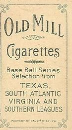 1909-11 The American Tobacco Company T206 White Border #NNO Scoops Carey Back