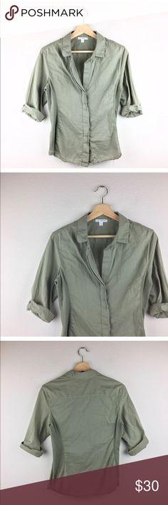 """Standard James Perse Button Down Shirt Standard James Perse shirt, women's size 3 (L).   Bust 35"""" length 24"""" James Perse Tops Button Down Shirts"""