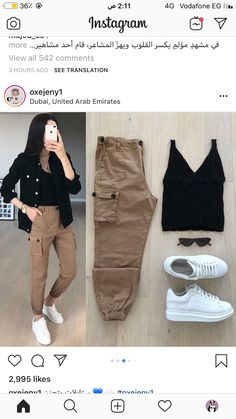 Sporty Outfits, Winter Fashion Outfits, Cute Casual Outfits, Simple Outfits, Stylish Outfits, Teenager Outfits, College Outfits, Mode Grunge, Pantalon Cargo