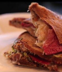 Australian Gourmet Traveller video recipe for Reuben jaffle by chef Sean Connolly.