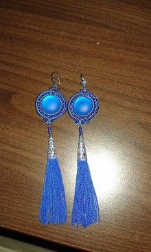 Náušnice - Náušnice so strapcom - modré - 7144998_ Drop Earrings, Jewelry, Fashion, Moda, Jewlery, Jewerly, Fashion Styles, Schmuck, Drop Earring