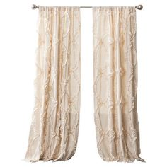 Bring a timeless touch to your master suite or living room with this lovely curtain, showcasing a ruffled trellis design for stylish appeal....