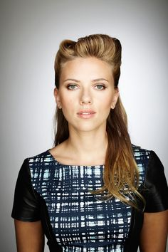 Scarlett Johansson is so versatile! This hair would be good with simple makeup and a cute dress.