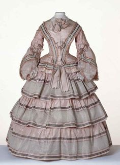 Day dress, circa 1855