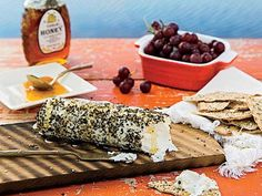 Honey-Pepper Grilled Goat Cheese