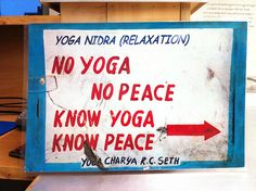 know yoga, know peace