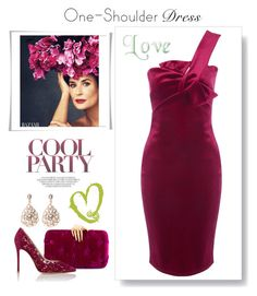 """""""Party Dress-One Shoulder Dress"""" by kim-mcculley ❤ liked on Polyvore featuring Benedetta Bruzziches, Jane Norman, Gianvito Rossi, Latelita, dress and womensFashion"""