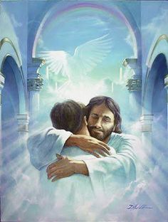 "Have you ever had a ""Jesus hug"", Do you know what one feels like? If you've never had a ""Jesus hug"", I pray one day you might. A ""Jesus hug"" is different, As far as hugging goes; It's a little taste of Heaven, Here on earth below."