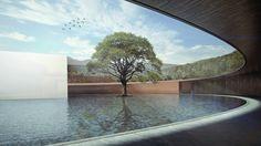 Render Hospicio HOLA, Morelia, México  Render de arquitectura, architecture  Render by Noxx studio