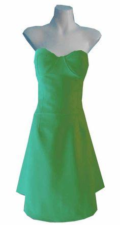 VINTAGE HARAH DESIGNS COTTON KNEE LENGTH STRAPLESS CORSET DRESS 100% COTTON