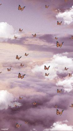 Cartoon Wallpaper, Wallpaper Pastel, Butterfly Wallpaper Iphone, Cute Patterns Wallpaper, Mood Wallpaper, Iphone Background Wallpaper, Retro Wallpaper, Photo Wallpaper, Beauty Iphone Wallpaper