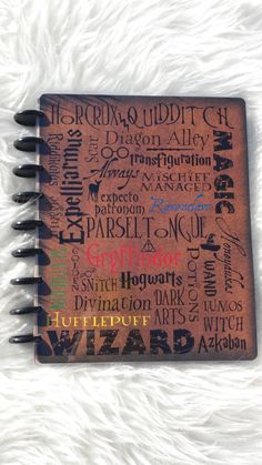 Harry Potter planner cover by MoonJellyBell on Etsy