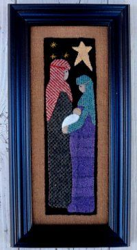 Bits and Pieces by Joan A Gift from Bethlehem The Pattern Hutch wool applique craft pattern Nativity Christmas Jesus