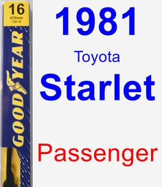rear wiper blade for 1982 toyota starlet assurance toyota starlet and products. Black Bedroom Furniture Sets. Home Design Ideas