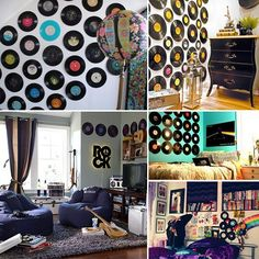 vinyl record wall art