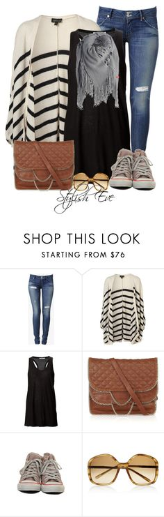 """""""Striped &Converse Outfit!"""" by stylisheve ❤ liked on Polyvore featuring Hudson Jeans, T By Alexander Wang, DKNY, Marni and ESPRIT"""