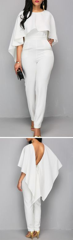 25 Ideas How To Style Jumpsuit Formal African Men Fashion, Womens Fashion, Fashion Trends, Fashion Design, Trendy Outfits, Cool Outfits, Pants For Women, Clothes For Women, Sweet Dress