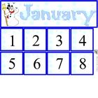 Free January Calendar Set includes month and number cards...
