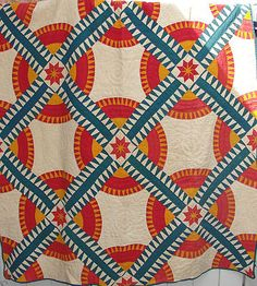 Antique New York Beauty Hand Stitched Quilt Soft Thin Great Colors   eBay