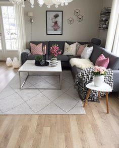 Awesome Small Apartment Living Room Decor Ideas For Your Home Living Room Grey, Home Living Room, Interior Design Living Room, Living Room Designs, Living Room Decor, Cozy Living, Grey Living Room Furniture, Decor Room, Kitchen Interior