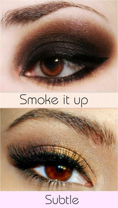Eye make up for brown eyes.